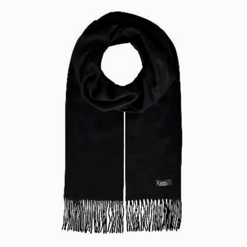 Black cashmink scarf by Fraas 625199 - Black Truffle