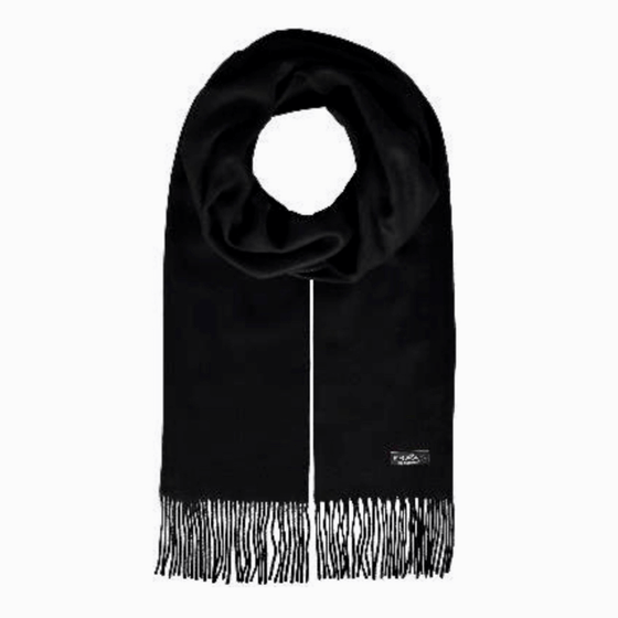 Black cashmink scarf by Fraas - Black Truffle