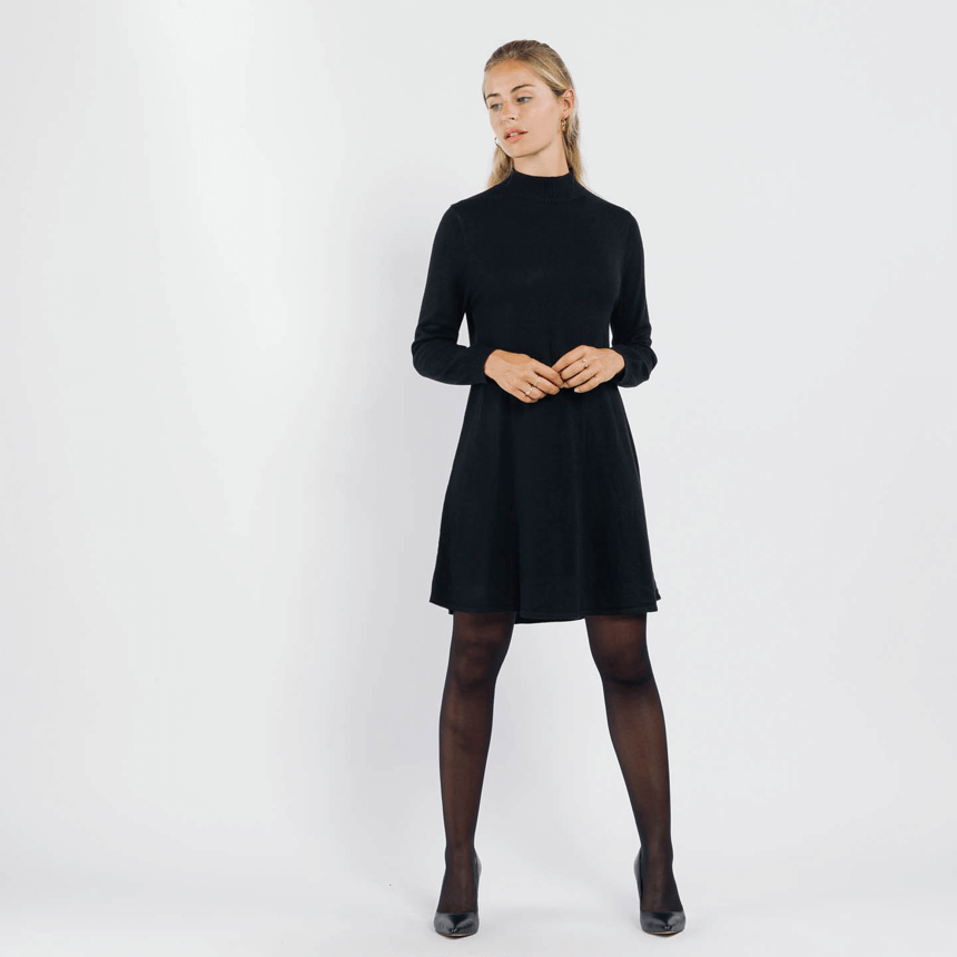 Sweewe black knitted jumper dress - Black Truffle