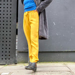 Sweewe draped trousers in yellow - Black Truffle
