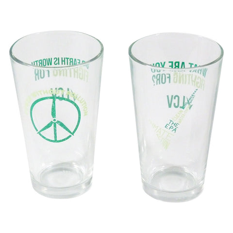 Keep It Clean pint glass set