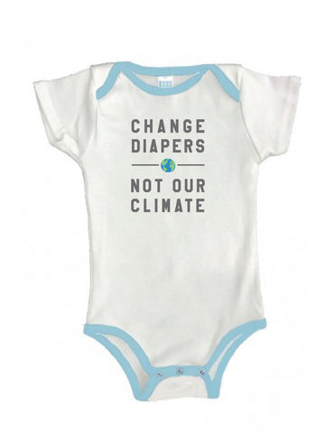 Change Diapers Not Our Climate Organic Onesie
