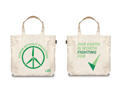 Power Without Pollution Tote Bag