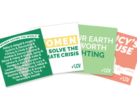 Women Saving the World Sticker Set