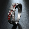 """Love Struck"" Customizable Cross Band Ring"