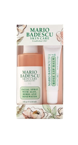 Mario Badescu Rose Lip & Mist Duo - Glamorous Beauty