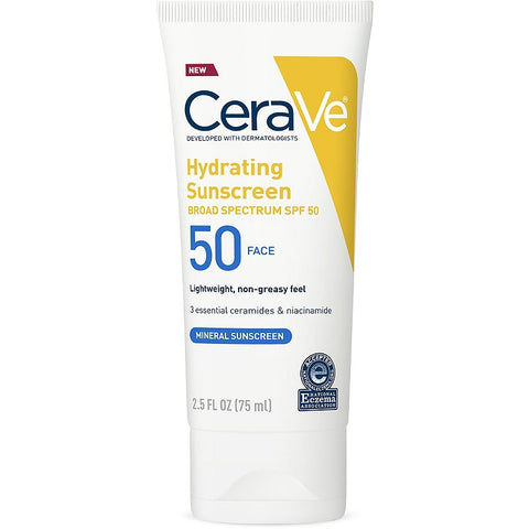 CeraVe Hydrating Sunscreen SPF 50 Face Lotion