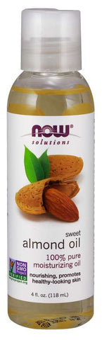 Now Foods Solutions Sweet Almond Oil - 118 ml - Glamorous Beauty