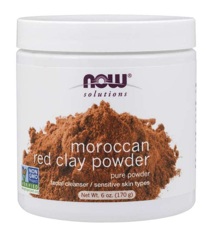Now Foods Solutions Moroccan Red Clay Powder - Glamorous Beauty