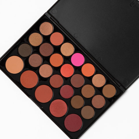 BH Cosmetics Blushed Neutrals - 26 Color Eyeshadow and Blush Palette - Glamorous Beauty