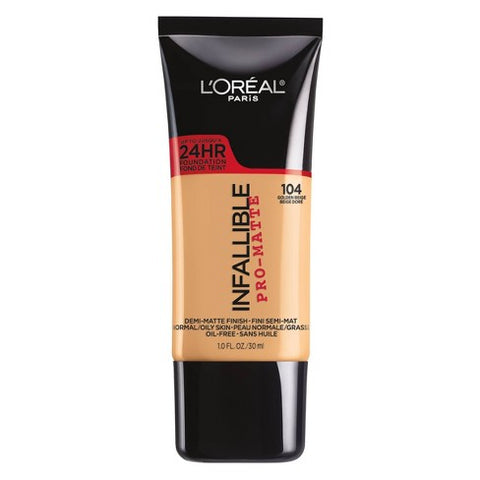 Loreal pro matte infallible foundation -104