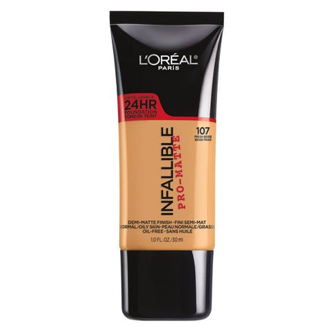 Loreal pro matte infallible foundation -107