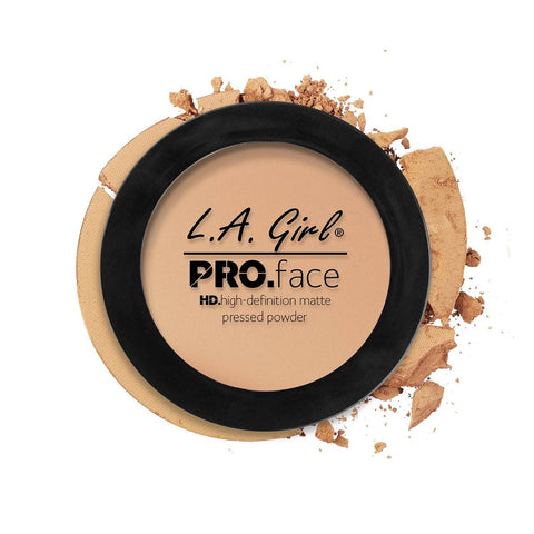 La Girl Pro Face Matte Pressed Powder - Nude Beige