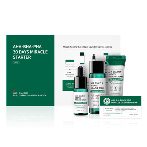 Some By Mi, AHA.BHA.PHA, 30 Days Miracle Starter Edition - 4 Piece Kit - Glamorous Beauty