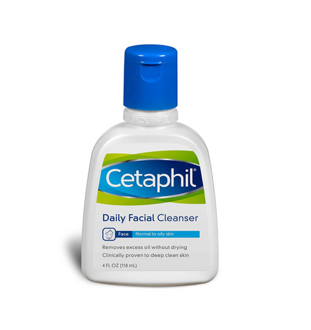 Cetaphil Daily Facial Cleanser for Normal to Oily Skin - 118 ml - Glamorous Beauty