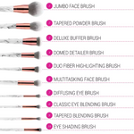 BH Cosmetics Marble Luxe - 10 Piece Brush Set - Glamorous Beauty