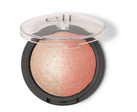 elf baked highlighter and blush - rose gold - Glamorous Beauty