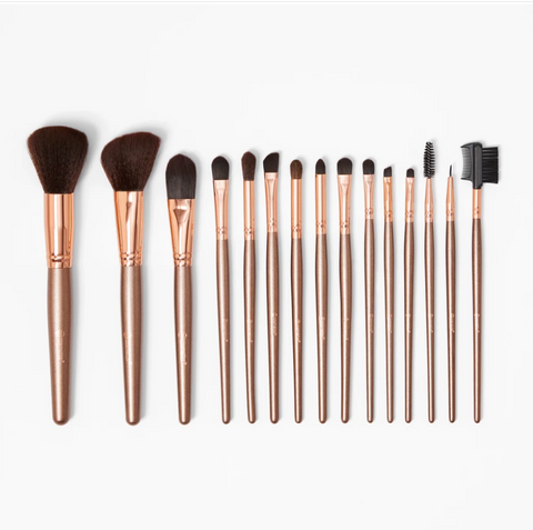BH Cosmetics Rose Gold - 15 Piece Brush Set - Glamorous Beauty