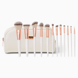BH Cosmetics Rosé Romance - 12 Piece Brush Set With Cosmetic Bag - Glamorous Beauty