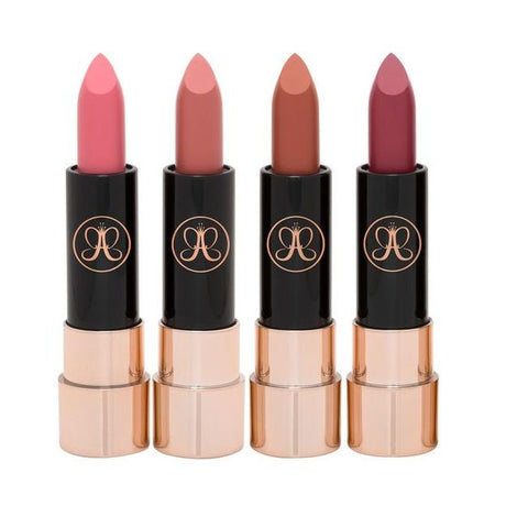 Anastasia Beverly Hills Matte Lipstick 4 Pc Set Mini Nudes - Glamorous Beauty