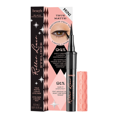 Benefit Roller Liner Matte Liquid Eyeliner Mini Size - Black - Glamorous Beauty