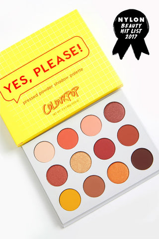 Colourpop Yes, Please! Pressed Powder Shadow Palette - Glamorous Beauty