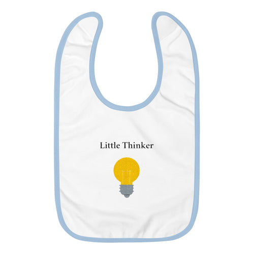 Little Thinker Embroidered Bib