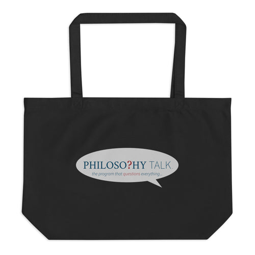 Philosophy Talk Large Eco Tote Bag