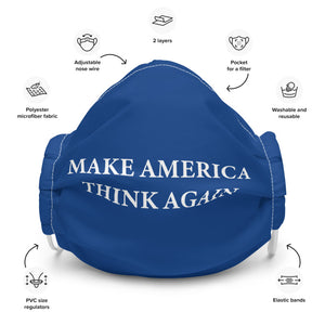 Make America Think Again Face Mask (Blue)