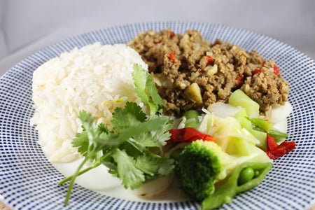 Picadillo with White Rice / Arroz Blanco con Picadillo de Carne y Papitas