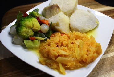 273 Yam with Cod Stew and Vegetables / Ñame con Bacalao Guisado y Vegetales