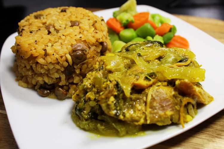 Rice with Pigeons & Braised Chicken / Arroz con Gandules & Pollo al Caldero