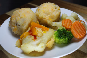 Majado de Viandas con Bacalao / Cod with Mashed Root Vegetables