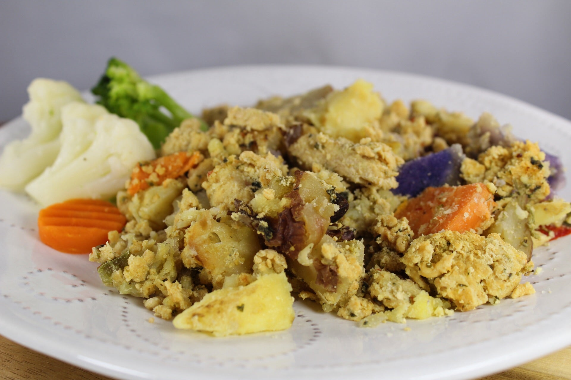 Cacerola de Papitas con Carne de Pavo y Vegetales / Turkey and Potato Casserole with Vegetables