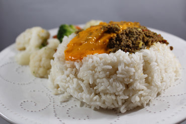 Volcanic Rice with Vegetables / Arroz Volcánico con Vegetales