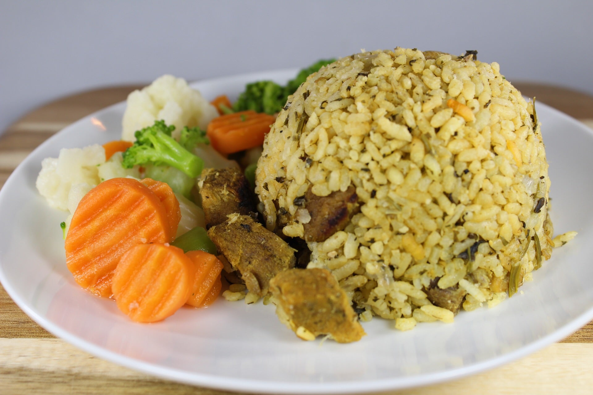 Arroz con Cerdo y Cilantro y Vegetales / Rice with Pork, Cilantro and Vegetables