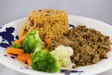 Arroz Mamposteao con Roast Beef / Mampoteao Rice with Roast Beef