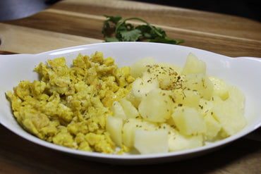 Scramble Eggs with Potatoes / Revoltillo con Papitas