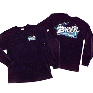 BLACK LONG SLEEVE SPLASH TEES
