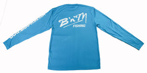 B'n'M Fishing Blue Dry Fit Long Sleeve