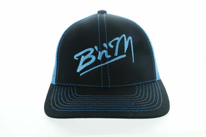 Neon Blue/Black Mesh Hat