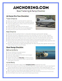 Boat Trailering and Ramp Checklist