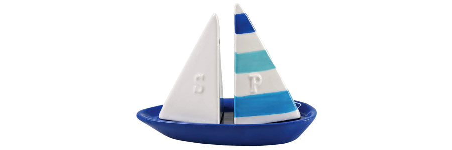 Boating Gift - Sailboat Salt and Pepper Shakers