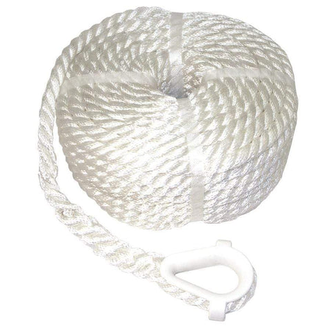 Double-Braided Windlass Rope Spliced with Stainless Chain (For Windlass)