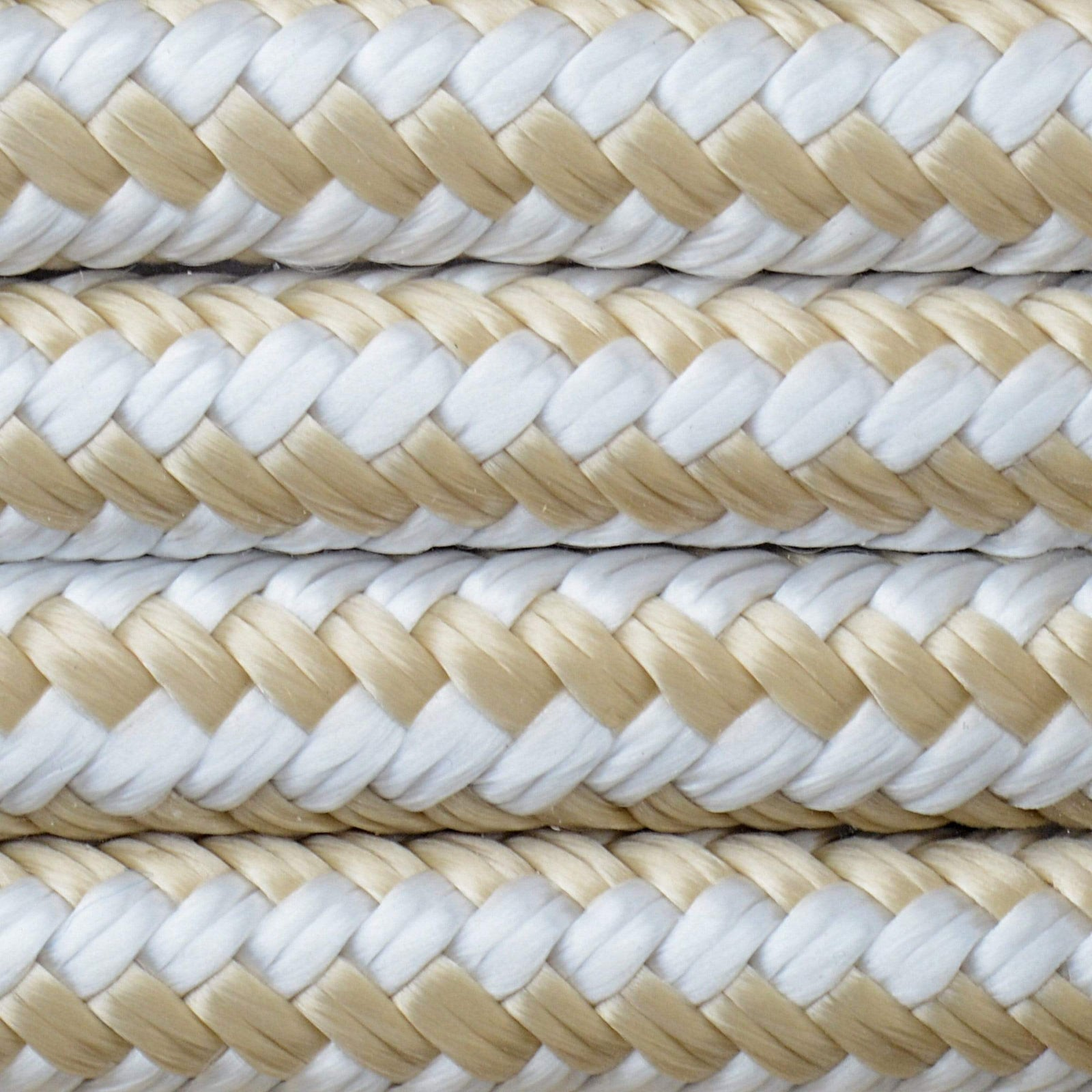 "Double-Braided Nylon Dock Line, 25' × 1/2"" (Gold)"