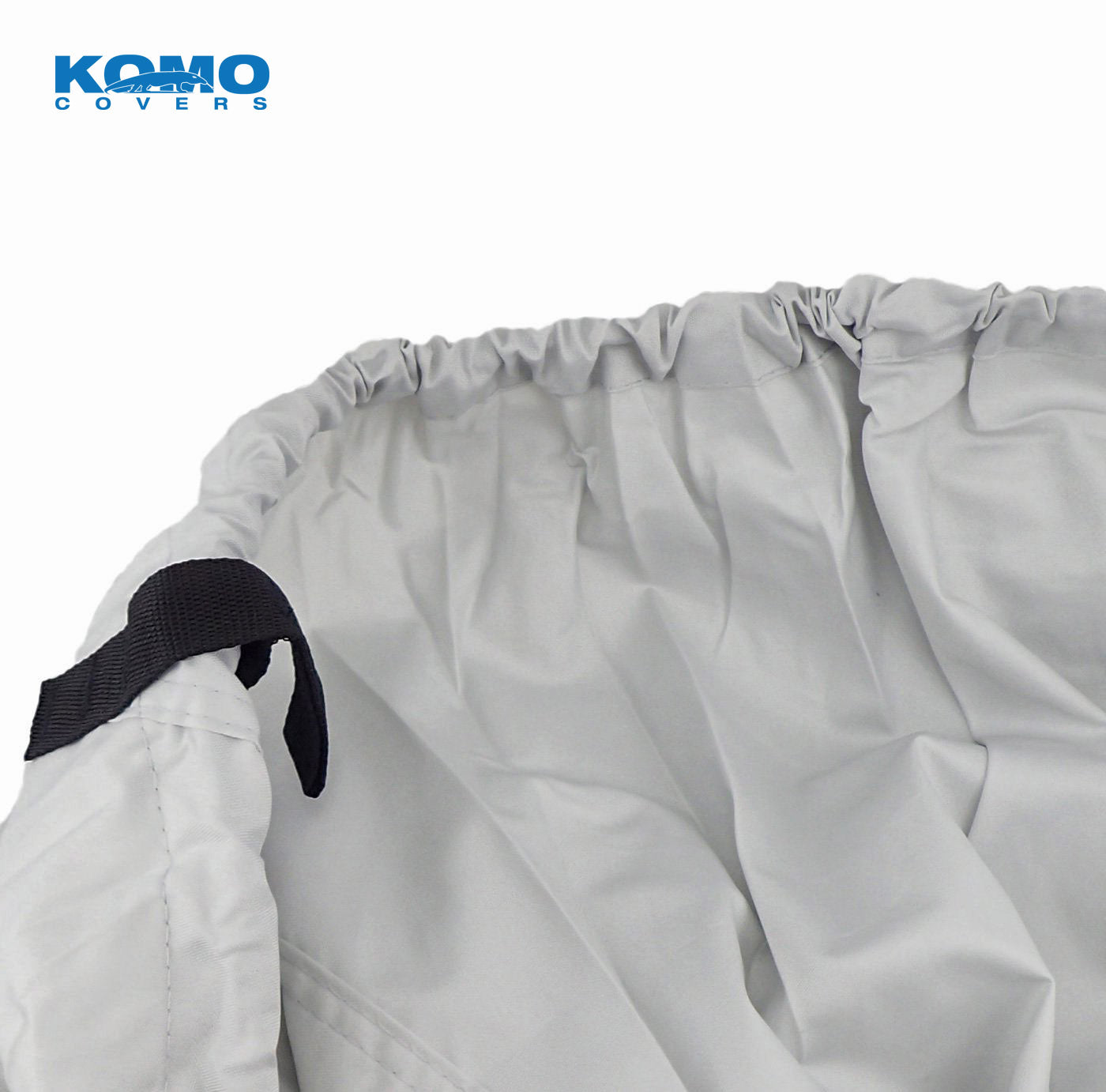Pontoon Boat Cover - Elastic Hem & Strap Loop