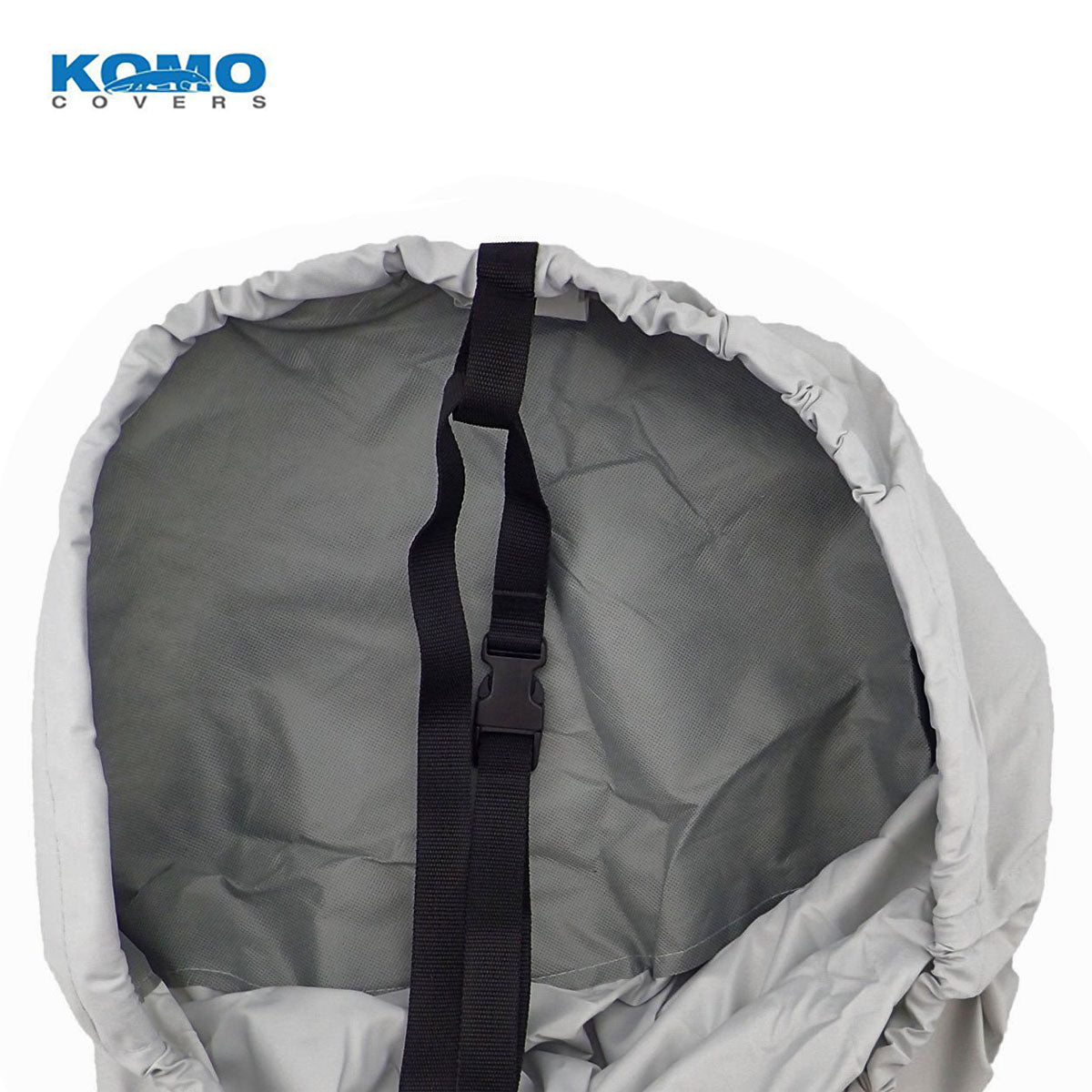 Trailerable Boat Cover Reinforced Bow and Strap Loop