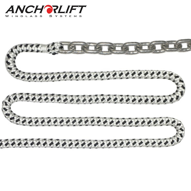Anchorlift Double Braided Windlass Rope and Galvanized HT Chain (For Windlass)
