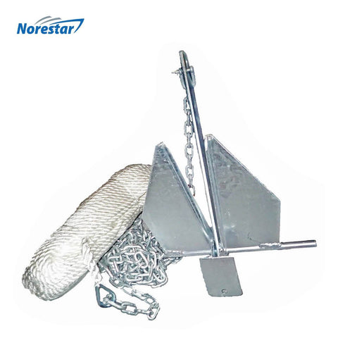 Galvanized Steel Hinged Plow/CQR Boat Anchor