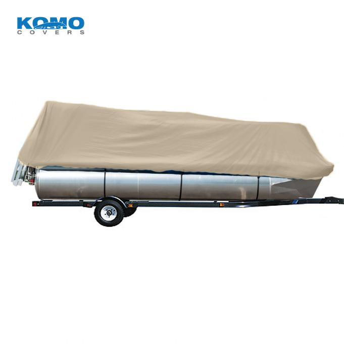 Komo Covers® Pontoon Boat Cover, Heavy Duty (300D), Trailerable